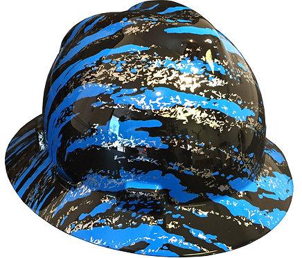 MSA V Guard Full Brim Blue Marble Splash