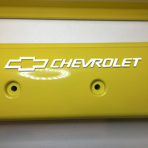 Chevy Small Block ZZ6/Vortec Center Bolt  Holley 241-290 Yellow W/ White Letters
