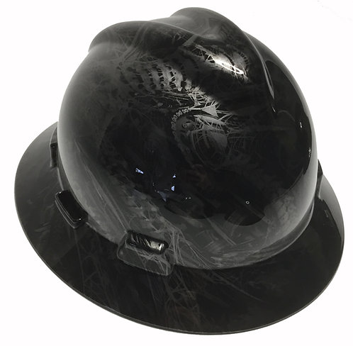 Metallic Graphite Bio Mechanical High Gloss MSA V-Gard Full Brim