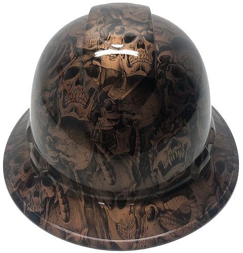 Copper Metallic Demented Skulls High Gloss Ridgeline Full Brim
