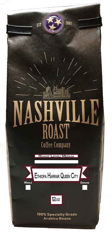 Nashville Roast Coffee Company Ethiopa Harrar Queen City, Ground, 12 Oz Bag