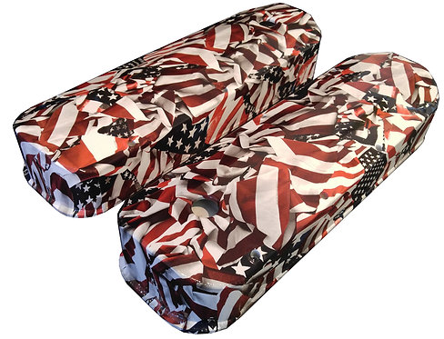 Big Block Chevy Hydro Dipped American Flags Valve Covers 6822G