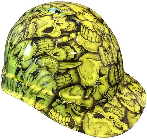 Hi Vis Green Insanity Skulls Hard Hat