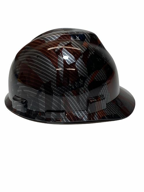 Carbon Fiber American Flags Hydro Dipped MSA V Guard Cap Style