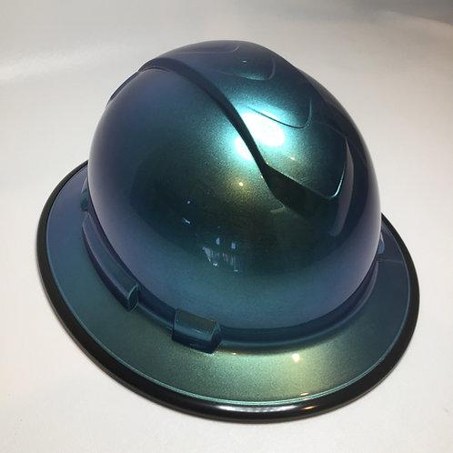 Full Brim Blue/Green Cameleon W/ Black EdgeGuard