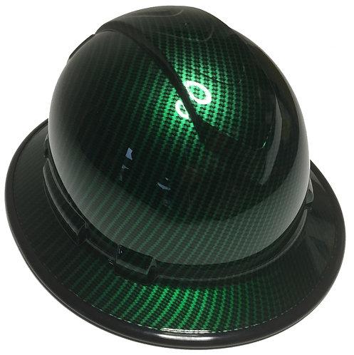 Ridgeline Full Brim Green Kandy Carbon Fiber Black EdgeGard