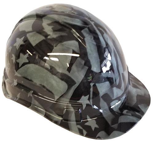 Light Grey American Flag Hard Hat