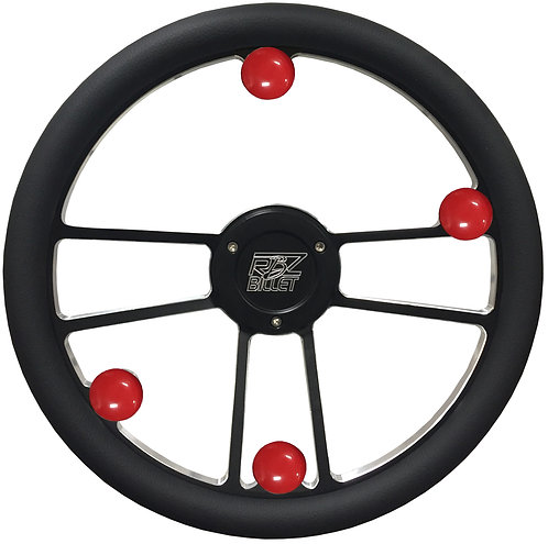 Custom RBZ Billet Racing Steering Wheel Custom 2 With 4 Buttons