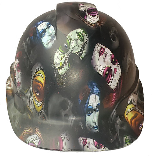 Day Of The Dead Sugar Skulls Satin Ridgeline Cap Style