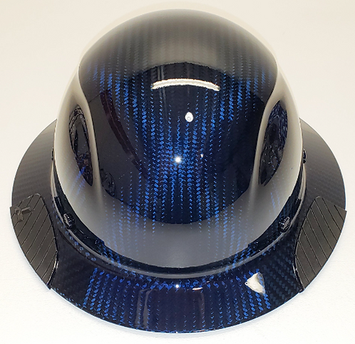 Custom Translucent Blue Lift DAX  Carbon Fiber HDC-15KG Full Brim HardHa