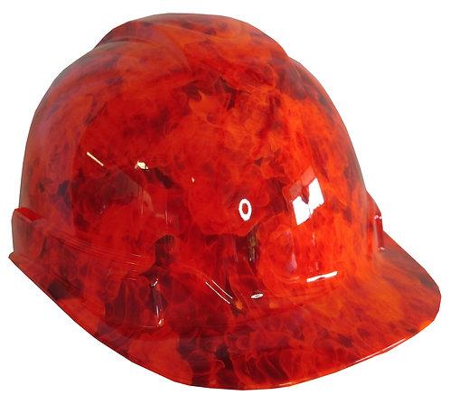 Orange Flames Hard Hat