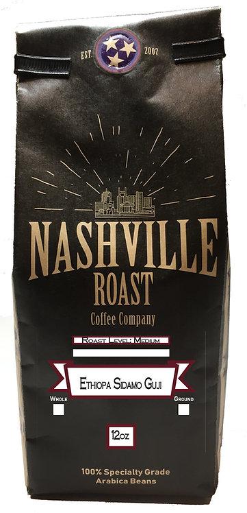 Nashville Roast Coffee Company Ethiopa Sidmos Guji, Whole Bean, 12 Oz Bag