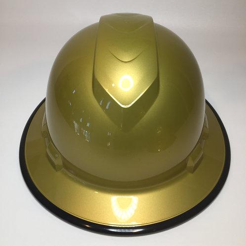 Full Brim Gold Metalic W/ Black EdgeGuard