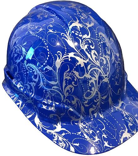 Dark Blue Lilies Hard Hat