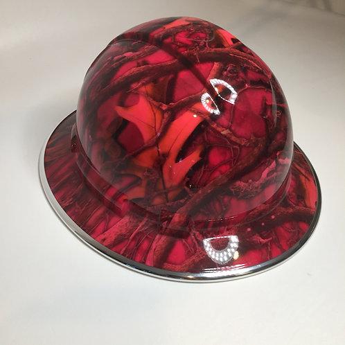 Full Brim Pink Camo W/ Chrome EdgeGuard