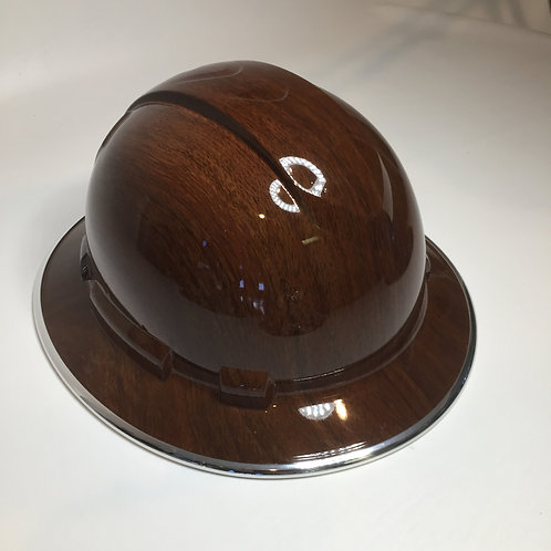 Full Brim Brown Oak W/ Chrome EdgeGuard