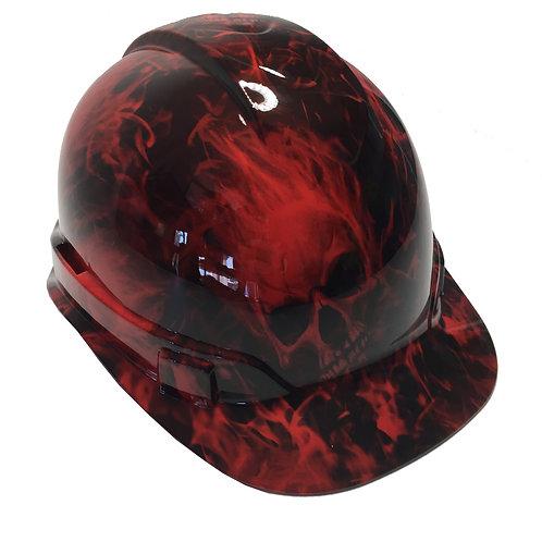 Red Flaming Skulls