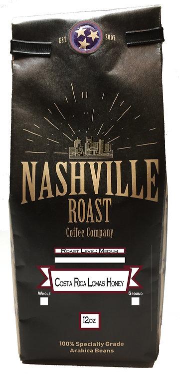 Nashville Roast Coffee Company Costa Rica Lomas Honey, Whole Bean, 12 Oz Bag