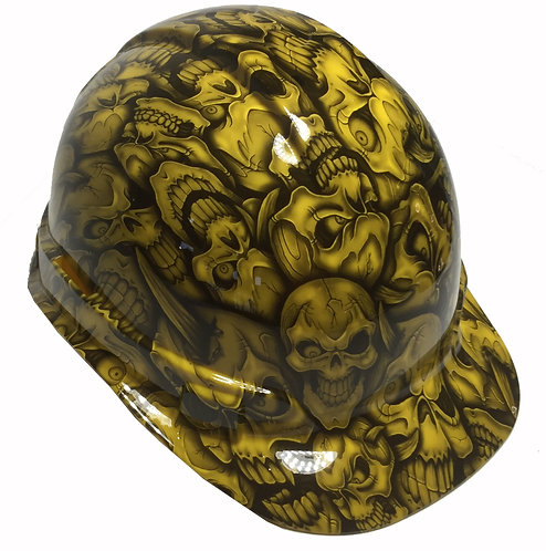 Yellow Insanity Skulls Ridgeline Cap Style Hard Hat