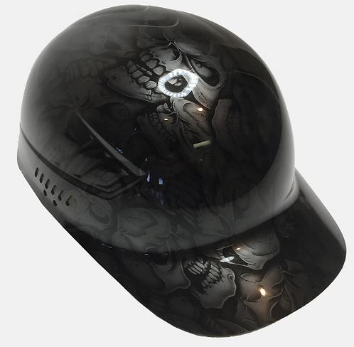 Metallic Graphite Insanity Skulls Bump Cap