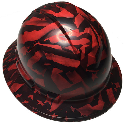 Ridgeline Full Brim Custom Red Midnight Flags Satin