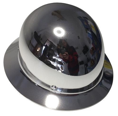 Hard Hat MSA Skullgard Full Brim Custom Chrome