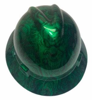 Kandy Green Boss Skulls MSA V-Gard Full Brim