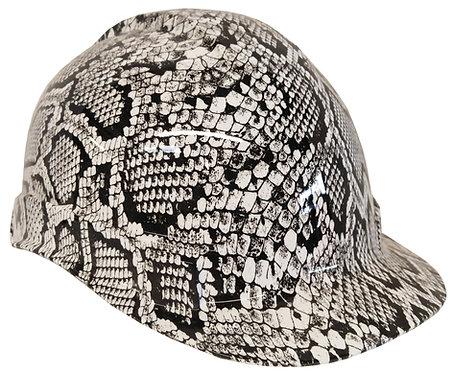 White Snakeskin Hard Hat