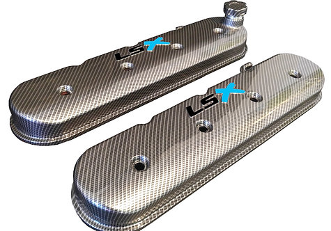 LSX Hydro Dipped Carbon Fiber Valve Covers 241-405 W/Black LS Teal X