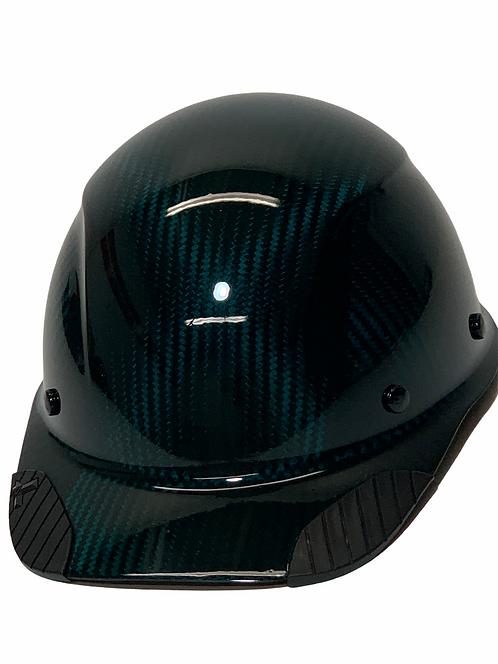 Translucent Teal Blue Lift Dax Carbon Fiber HDCC-17KG  Cap Style HardHat