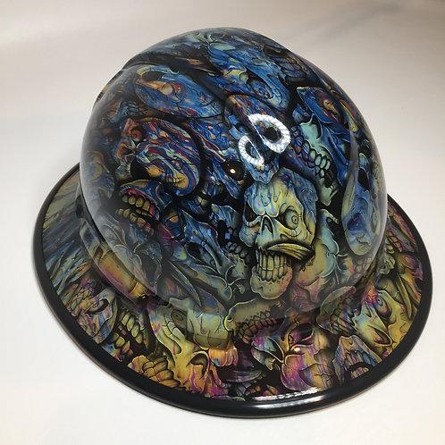 Full Brim Oil Slick Insanity Skulls W/ Black EdgeGuard