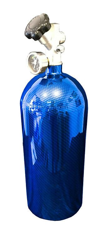 15lb Hydro Dipped NOS Bottle Kandy Blue Carbon Fiber W/Hi-Flow Valve 14750BNOS