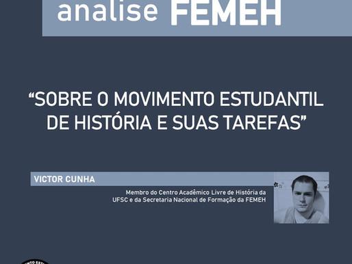 O MOVIMENTO ESTUDANTIL DE HISTÓRIA E SUAS TAREFAS