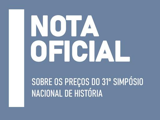 NOTA DE REPÚDIO DA FEMEH AOS PREÇOS DO 31º SIMPÓSIO NACIONAL DE HISTÓRIA