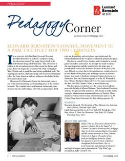 Leonard Bernstein Sonata - Movement II