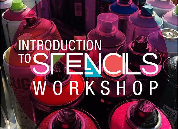 Intro to Stencil Art Workshop (15 Jan 22)