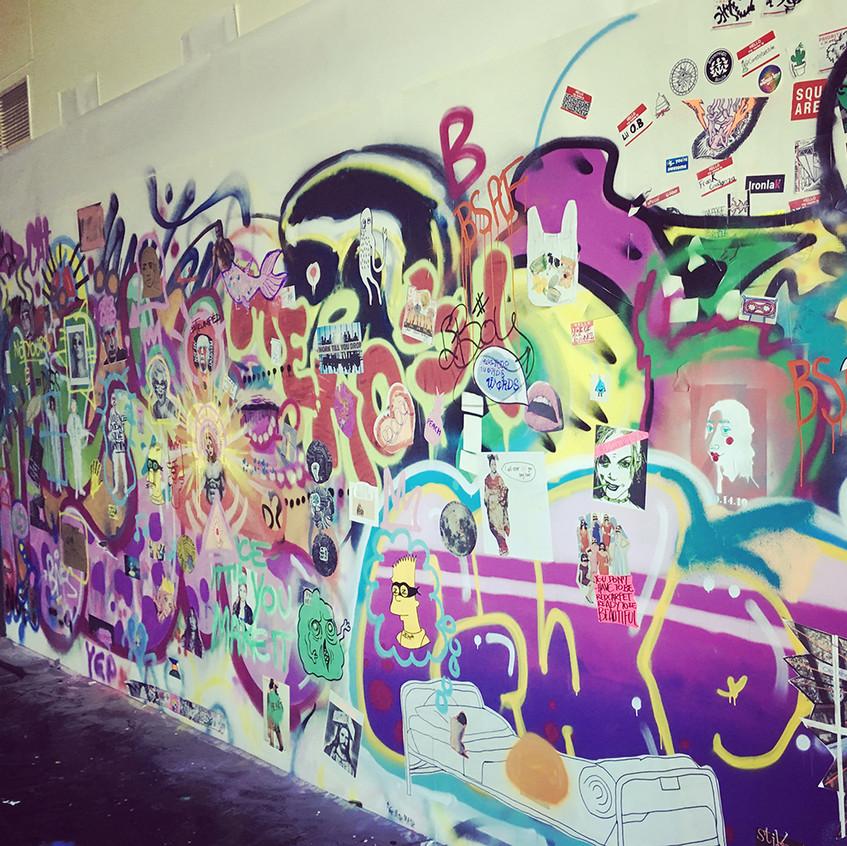 Graffiti wall at QUT