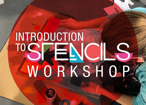 Intro to Stencil Art Workshop (20 Nov 21)