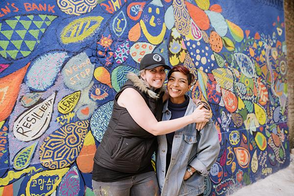 Sarah and Jyoti