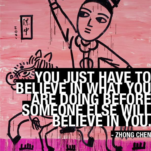 Zhong Chen Self Portrait and art advice