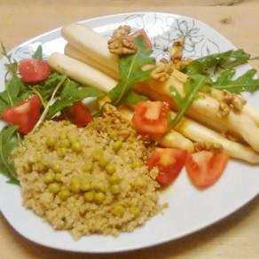 Köstlicher Spargel - bei mir gibt es die knackige gebratene Variante #vegan#Vollwertküche#glutenfrei