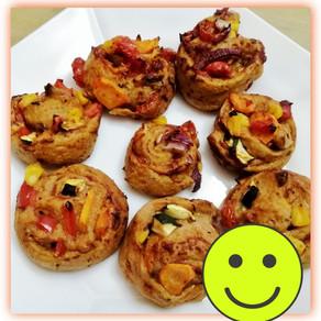 🍅Gemüsige Pizzaschnecken 🐌  -Lecker und gesund für Groß und Klein #plant based food # Snack