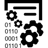 data-management-interface-symbol-with-ge