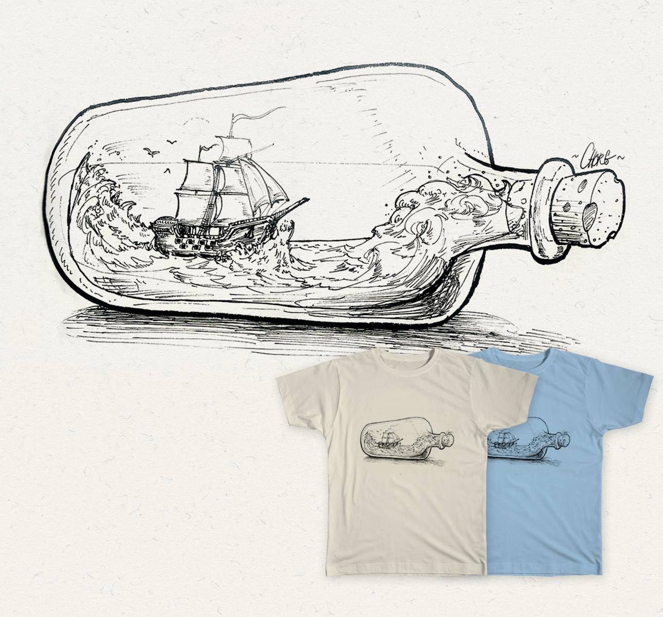 Une bouteille a la mer.
