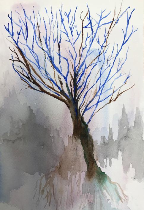 Faerie Tree in Clouds