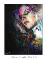 Love Bites - Acrylic, Ink & Gold Leaf on photo