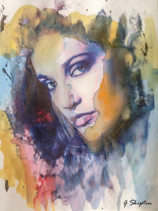 Nikki - Watercolor on photo
