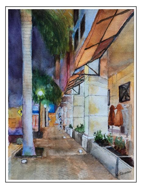 Sarasota Main Street Evening