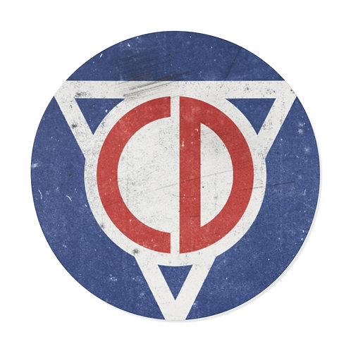 Civil Defense Round Vinyl Stickers