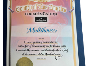 Multihouse Receives Commendation from the County of Los Angeles